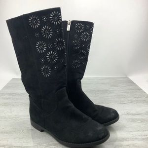 Kenneth Cole Girls Black Winter Boots